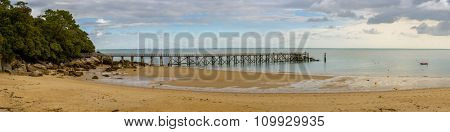 Pier at Plage des Dames in Noirmoutier, France