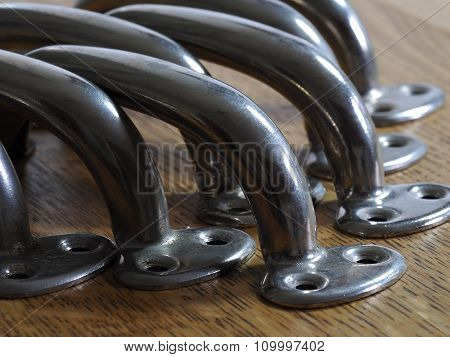 Old metal handles