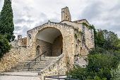 Hermitage of St. Peter in Castellet Catalonia Spain poster
