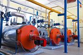 Gas burner boiler heating Industrial applications power poster