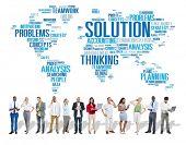 Solution Solve Problem Strategy Vision Decision Concept poster