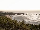 California landscape coastline off the Pacific Coast Highway at sunset. poster