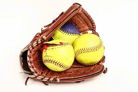 Softball Glove and ball