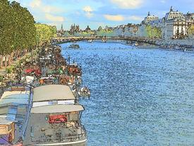 Paris Illustration, The Seine Wharf