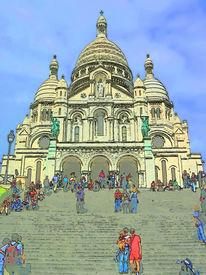 Paris Illustration, Sacre Coeur Basilica
