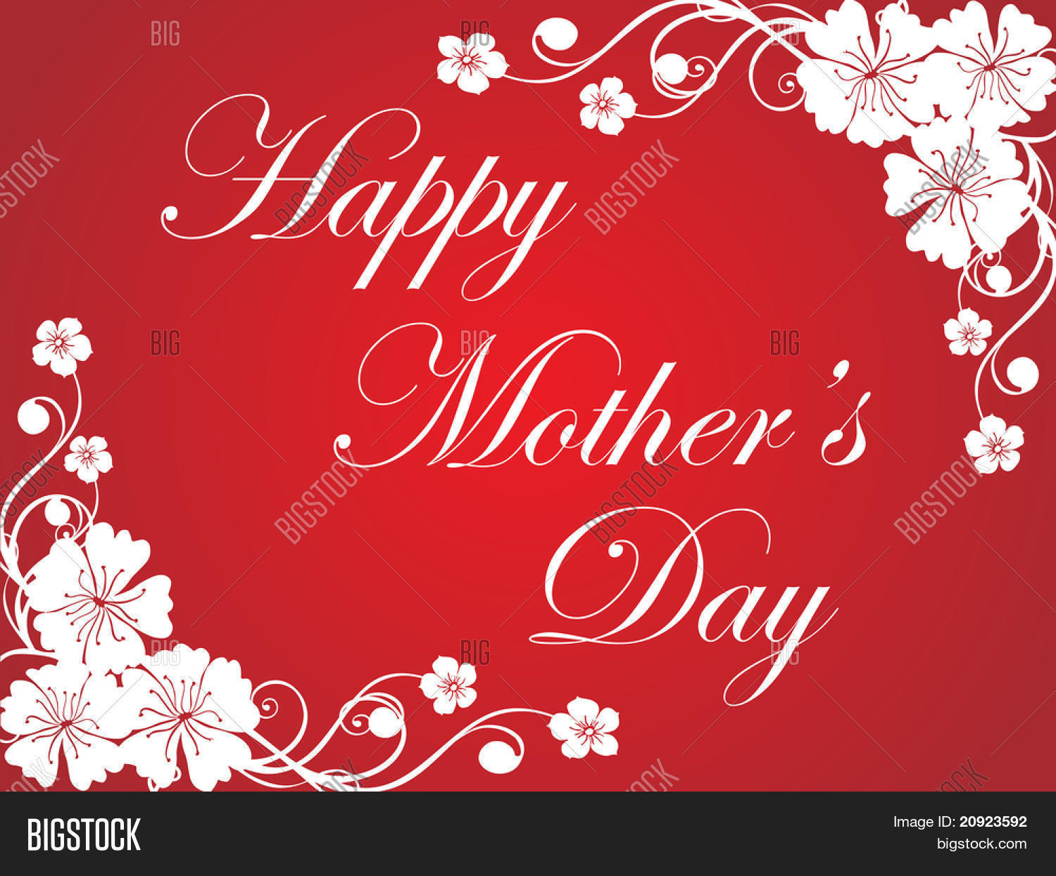 Red flower design vector photo free trial bigstock red flower design mother day greeting card m4hsunfo