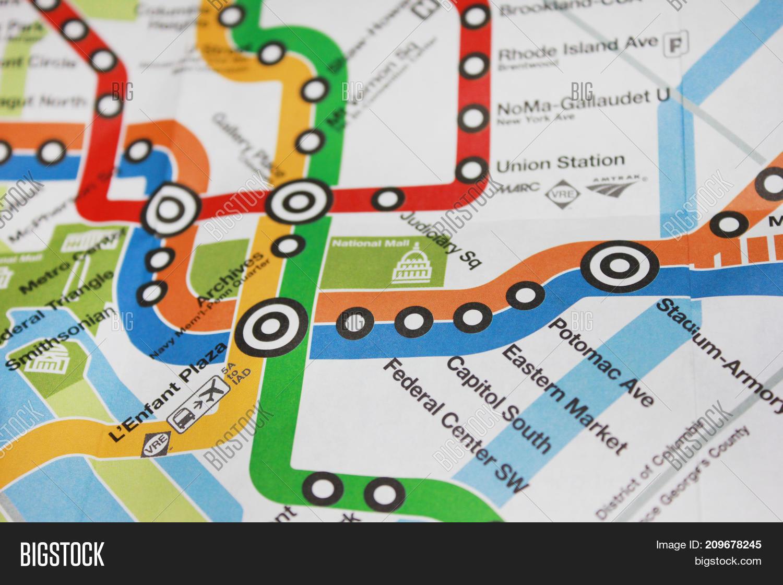 Washington State Subway Map.Washington Dc Usa Image Photo Free Trial Bigstock