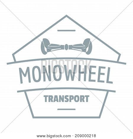 Mono wheel logo. Simple illustration of mono wheel vector logo for web