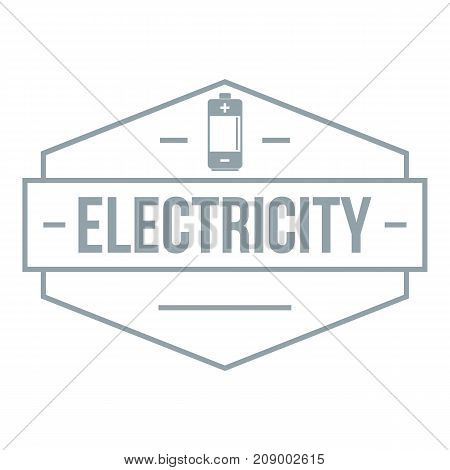 Battery logo. Simple illustration of battery vector logo for web