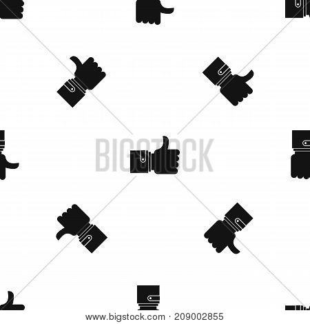 Like pattern repeat seamless in black color for any design. Vector geometric illustration