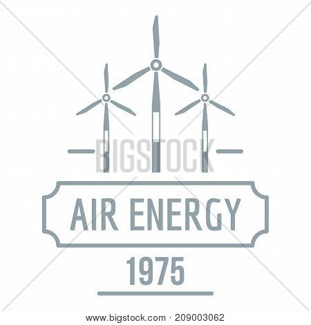 Air energy logo. Simple illustration of air energy vector logo for web