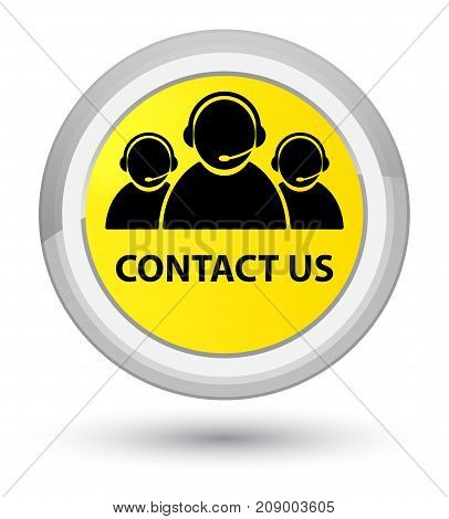 Contact Us (customer Care Team Icon) Prime Yellow Round Button