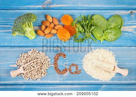 Products Or Ingredients Containing Calcium, Dietary Fiber And Natural Minerals, Healthy Nutrition