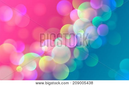 Vector illustration of abstract colorful bokeh blots background.