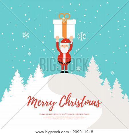Merry Christmas design element template background vector illustration
