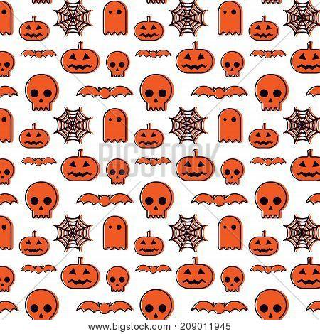 Happy Halloween abstract pattern background vector illustration