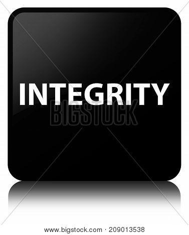 Integrity Black Square Button