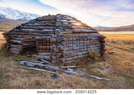 Traditional Altai Building called