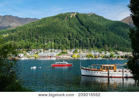 Lakefront Of Queenstown City, New Zealand