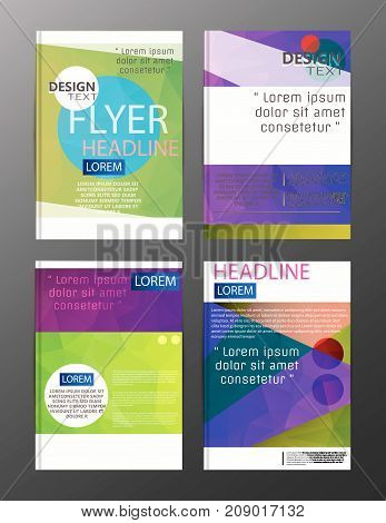 Flyer Design Business Annual Report Brochure Template. Cover Presentation Abstract Background For Bu