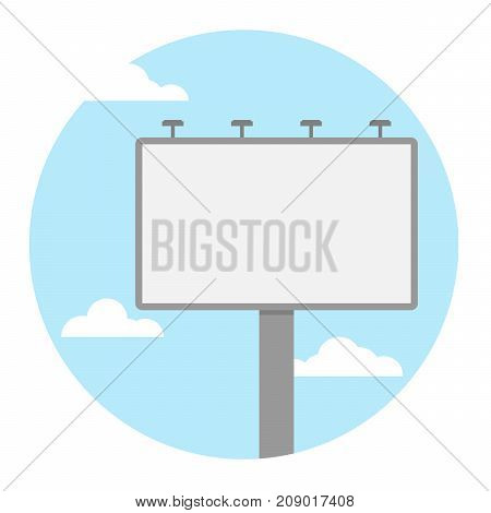 blank billboard. icon logo concept. flat vector illustration
