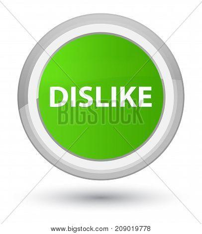 Dislike Prime Soft Green Round Button