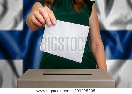 Election In Finland - Voting At The Ballot Box