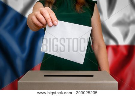 Election In Czech Republic - Voting At The Ballot Box