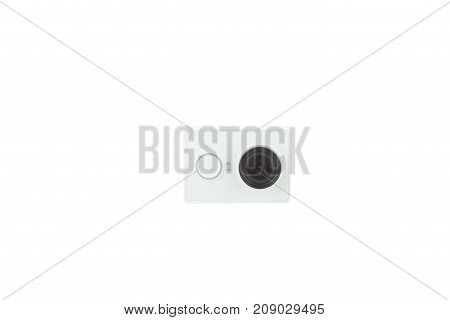 Camera Action Cam isolated on a white background