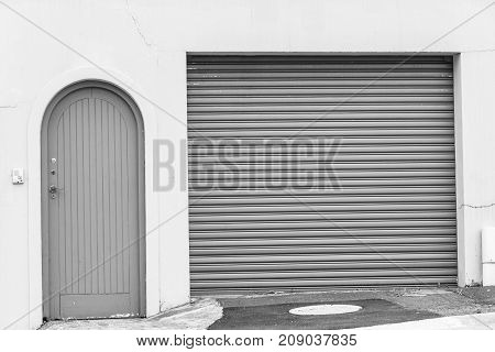 Double Garage Visitor Doors Entrance