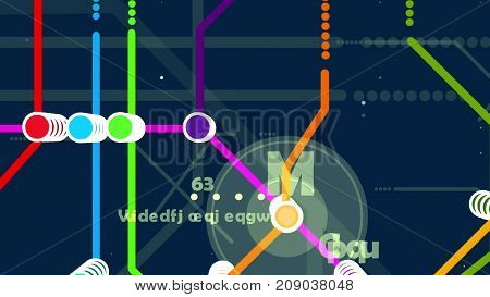 Colorful Metro Map