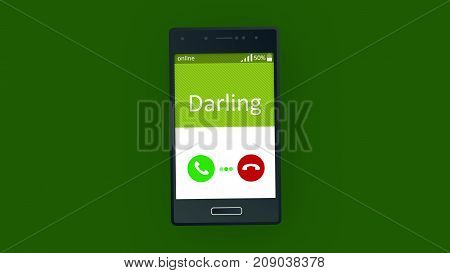 Darling Phone Calling Animation