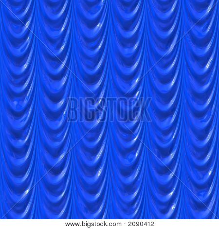 Cortinas de seda azules