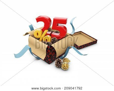Special Offer Sale, Isolated 3D Illustration. Discount Offer Price, 25 Percent Off Discount, Ad Offe