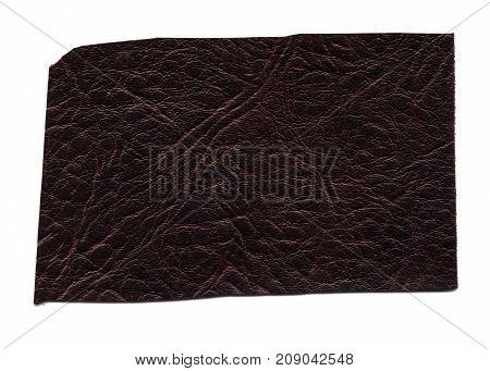 Dark Brown Leatherette Sample Background