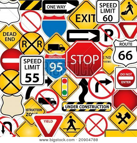 Road And Traffic Signs
