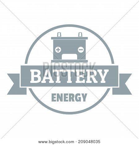 Car battery logo. Simple illustration of car battery vector logo for web