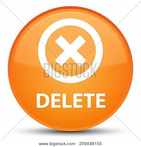 Delete Special Orange Round Button