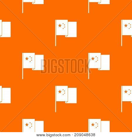 China flag pattern repeat seamless in orange color for any design. Vector geometric illustration