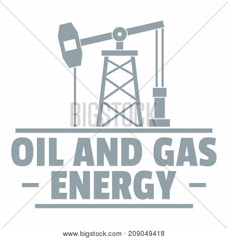 Oil pump logo. Simple illustration of oil pump vector logo for web