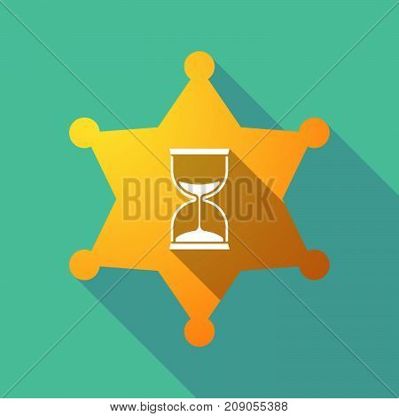 Long Shadow Sheriff Star With A Sand Clock