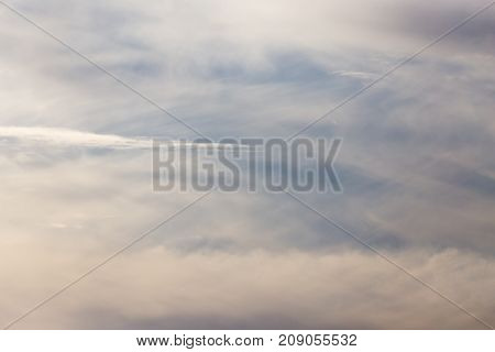 beautiful clouds at sunset . Photo of abstract background