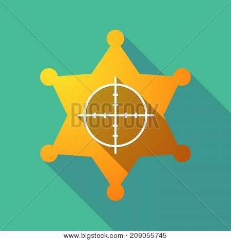 Long Shadow Sheriff Star With A Crosshair