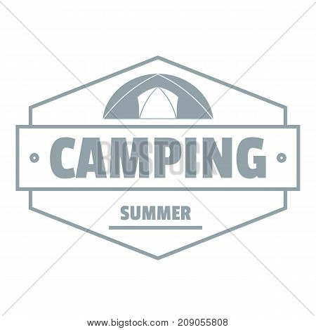 Summer camping logo. Vintage illustration of summer camping vector logo for web