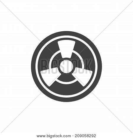 Toxic icon vector, filled flat sign, solid pictogram isolated on white. Radioactive hazard symbol, logo illustration.