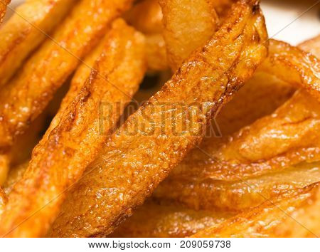 french fries background, closeup shot . Photo of abstract background
