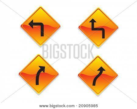 Richtung Zeichen-Vektor-Illustration