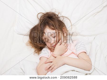 Little Girl Sleeping With Tangled Hair