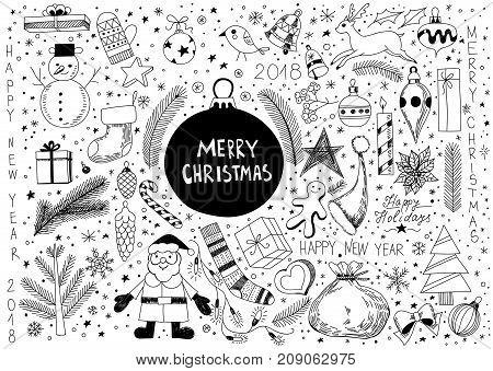 Doodle Christmas Set