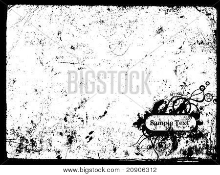 grunge sample text vector illustration abstract background